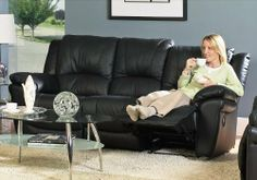 Black Leather Match Dual Reclining Recliner Sofa Couch by Coaster Home Furnishings. $1579.89