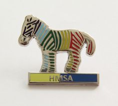 Official Hypermobility Syndrome Metal Pin Badge. Features Zulu the multicoloured Zebra representing people with Hypermobility Syndrome. £3.00 + P Worldwide Orders welcome.