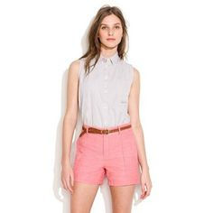 """Selling this """"Madewell Linen High Waisted Pleated Shorts in White"""" in my Poshmark closet! My username is: nicolepalmaa. #shopmycloset #poshmark #fashion #shopping #style #forsale #Madewell #Pants"""