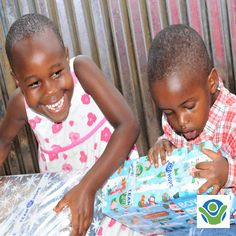 Deborah and her brother could't wait to open their Christmas Shoeboxes with all the special gifts. 'Thank you very much to the children that thought about us when creating them'. Christmas Shoebox Appeal, Shoe Box, Special Gifts, Brother, Children, Young Children, Boys, Kids, Shoe Cabinet