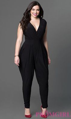 INC International Concepts Plus Size Surplice Tapered Jumpsuit Curvy Fashion, Girl Fashion, Fashion Outfits, Plus Fashion, Womens Fashion, Looks Plus Size, Look Plus, Plus Size Prom Dresses, Plus Size Outfits