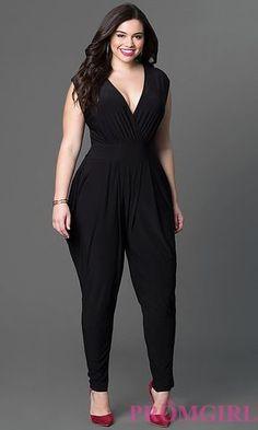 INC International Concepts Plus Size Surplice Tapered Jumpsuit Look Plus Size, Plus Size Women, Curvy Fashion, Plus Size Fashion, Womens Fashion, Fall Fashion, Luxury Fashion, Plus Size Prom Dresses, Plus Size Outfits