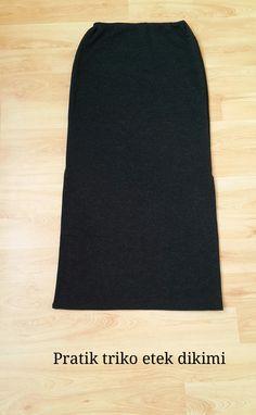 nur's butik.: Uzun triko etek dikimi /diy skirt sewing