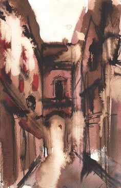 late june afternoon archway Rome Italy original by lapoleagallery, €40.00