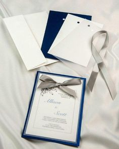 royal blue single card invitation royal blue wedding invitation royal blue diy invitations with ribbon royal blue printable wedding invitation kit - Printable Wedding Invitation Kits