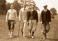 Old photos of boys in knickers and newsboy caps, and sweaters and ties,