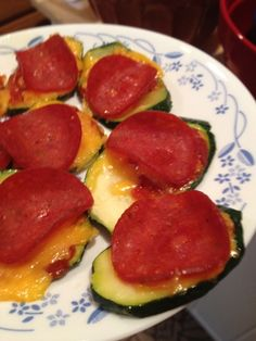 Low carb pizza bites!