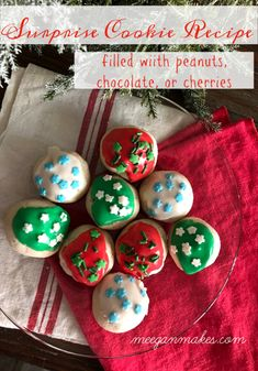 I don't know about you, but I am already preparing my Christmas baking list. When we first got married, it became a tradition to bake plates of cookies for family, friends and neighbors. Since then, I am always looking for new cookie recipes to add to my baking list. That's why I am excited to […] Christmas Party Food, Christmas Baking, Christmas Recipes, Holiday Recipes, Christmas Ideas, Merry Christmas, Surprise Cookie Recipe, Amazing Cookie Recipes, Traditional Christmas Cookies