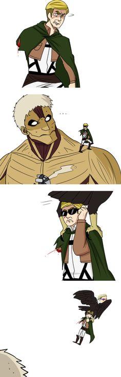 Attack On Titan Comic, Attack On Titan Season, Attack On Titan Fanart, Aot Memes, Funny Memes, Seven Deadly Sins Anime, Levi X Eren, Titans Anime, Funny Comics
