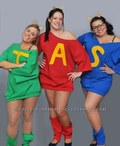 Cool Alvin and the Chipmunks Group Costume, maybe with tights? I could find some way to make it more modest I'm sure lol