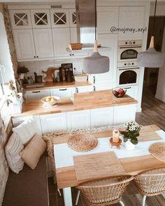 Kitchen Room Design, Home Decor Kitchen, Interior Design Kitchen, New Kitchen, Home Kitchens, Cosy Kitchen, Apartment Interior, Home Decor Inspiration, Kitchen Remodel