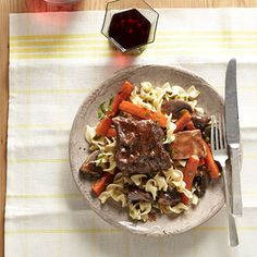 This rich and flavorful short rib recipe is perfect for any dinner party or decadent night in. Your guests will think you slaved away in the kitchen. Recipe: Red Wine-Braised Short Ribs   - Delish.com