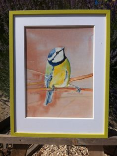 Bluetit/Moinneau Bleue Watercolour Paintings, Watercolor, Beautiful, Art, Blue, Pen And Wash, Art Background, Watercolor Paintings, Watercolor Painting
