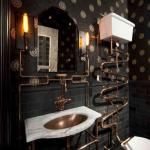 San Francisco architect Andre Rothblatt recently created a Steampunk bathroom for his clients who live in the Ashbury Heights neighborhood of San Francisco.