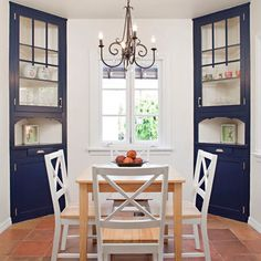 Exceptional Dining Room Built In Corner Cabinets To Flank The South Window. Do NOT Go  All Ideas