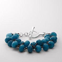 Woven Bead Bracelet - Teal