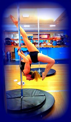 pretty blue pole dancing :) new favourite move! www.bodysynergy.co.uk