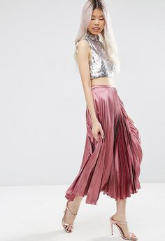 This slinky skirt will be summer night heaven worn with a crop top and sandals, or with coloured tights and a tucked-in blouse for next-season stealth
