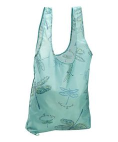 Tide Blue Dragonfly Fold-Up Shopper Tote by Life is good® #zulily #zulilyfinds