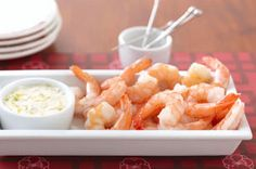 This shrimp cocktail platter has three different options for dipping - make all three for lots of variety or pick your favourite. Either way, this shrimp cocktail platter makes a great addition to any party menu. Shrimp Appetizers, Appetizer Recipes, Shrimp Recipes, Shrimp Dishes, Fish Recipes, Kraft Recipes, Cocktails, Cocktail Recipes, Sauce Recipes