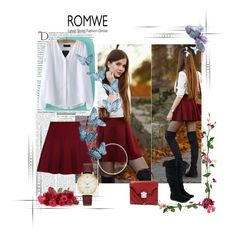 """""""Romwe #2/I"""" by almma-karic ❤ liked on Polyvore featuring Alexander McQueen, Kate Spade, Balmain and romwe"""