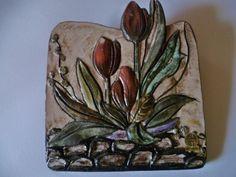 Ruscha Keramik 2  Wandbilder 28,5x28,5cm