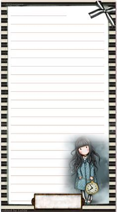 Pagina a righe Gorjuss formato Personal**********  See more at - https://www.etsy.com/it/shop/LaliLunaStore