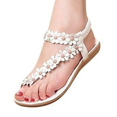 7a56c1f4c9f2e9 Gimekiss Pumps Women Bohemia Flower Beads Flip-flop Shoes Flat Sandals B(M)  US