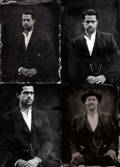 {Sir} Brad Pitt ambrotype by Stephen Berkman for The Assassination of Jesse James by the Coward Robert Ford. Brad Pitt, George Clooney, Tom Cruise, Jennifer Aniston, I Movie, Movie Stars, Assassination Of Jesse James, Moving Pictures, People