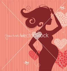 Silhouette of pregnant woman vector on VectorStock®