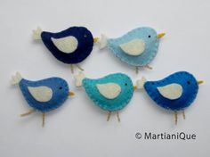 Blue Birds Mobile by MartianiQue on Etsy