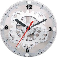 Maples Clock Wall/Desktop Moving Gear Clock