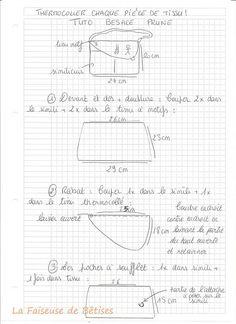 Tuto besace Paris Chic Je vous propose aujourd'hui Le tuto de la besace «Paris chic» qui est un bien grand mot pour ces bouts de papiers chiffonés mais néanmoins il y a des étapes et des dessins qui décrivent la réalisation de labesace en simili cuir prune et tissu au motif «Paris Chic»,donc c'est un…