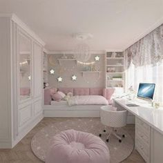 15 Cute Bedroom Ideas for Girls - Cool Bedroom Design Cute Bedroom Ideas, Cute Room Decor, Girl Bedroom Designs, Baby Decor, Bedroom Ideas For Girls, Ideas For Small Bedrooms, Awesome Bedrooms, Bed Ideas, Design Bedroom