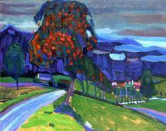 Wassily Kandinsky Autumn near Murnau, 1908