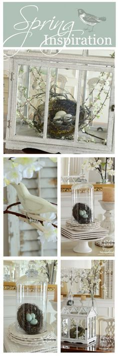 SPRING INSPIRATION  lots of easy to do ways to decorate stonegableblog.com