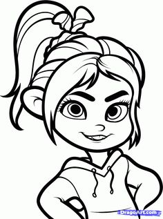 how to draw vanellope from disneys wreck it ralph - Drawing And Colouring For Kids