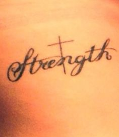 Maybe one day on pinterest cross tattoos anchors for Strength tattoos on ribs