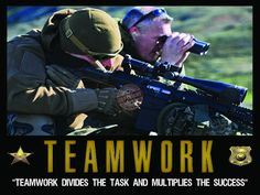 Police law enforcement teamwork poster