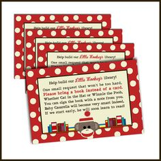 Sock Monkey Baby Shower Invitation  Bring a Book by LullabyLoo, $14.00  Make Halloween theme