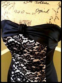 Vintage Kleid/60 / wackeln Kleid / / pin Up/sexy/Bombe/Cocktail Kleid/schwarze Spitze und Satin / size Small/Med auf Etsy, 61,37€