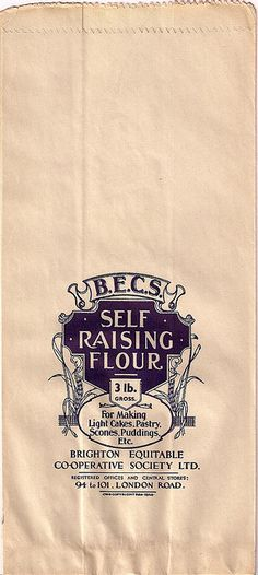 Brighton Equitable Co-operative Society flour bag, c1930