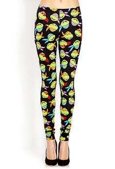 TMNT Leggings | FOREVER21 - 2000070065 @Dawn Cameron-Hollyer Cameron-Hollyer Oliver Ariel's bday!