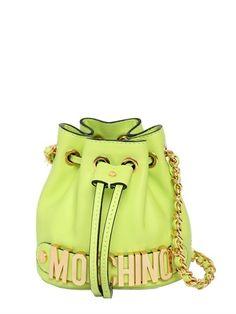 Moschino Mini Leather Bucket Bag on shopstyle.com