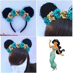 Hey, I found this really awesome Etsy listing at https://www.etsy.com/listing/255370642/princess-jasmine-mouse-ears-minnie-mouse