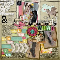 """One Story Down """"Nonsense"""" kit - part of the Dec. ScrapPack at ScrapStacks.com  http://www.scrapstacks.com/content/nonsense"""