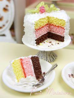 Paris Miniatures: New Miniature Pastries, Cakes, Marie Antoinette, Shabby Chic...