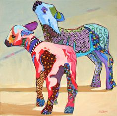 """""""Wool Futures,"""" painting by Carolee Clark"""