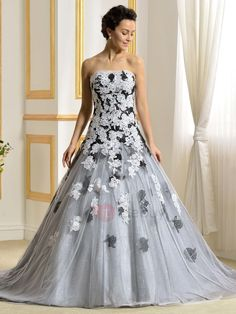 Cheap robe de mariage, Buy Quality bridal gown directly from China gown wedding Suppliers: vestido de noiva New Color Wedding Dresses 2017 Strapless Lace Appliques Bridal Gowns Wedding Gowns robe de mariage Champagne Colored Wedding Dresses, Purple Wedding Gown, Wedding Dresses With Flowers, Wedding Dresses Plus Size, White Wedding Dresses, Designer Wedding Dresses, Dress Wedding, Wedding Dress Gallery, Wedding Dress Pictures