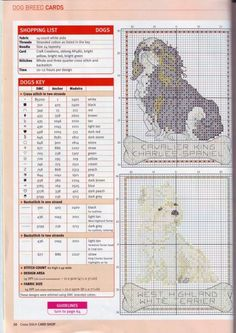 Cavalier King Charles / West Highland White Terrier Cross Stitch Patterns